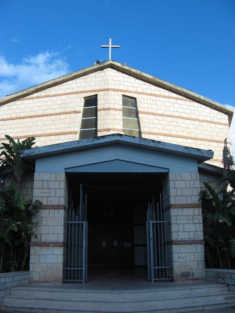 La facciata della chiesa di Bosco Minniti, a Siracusa