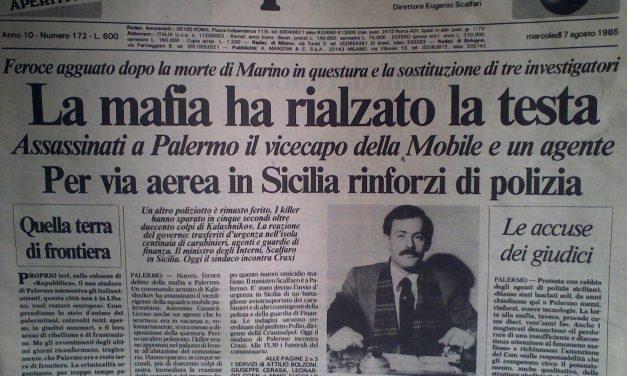 Da Boris Giuliano a Ninni Cassarà: quando la mafia uccideva d'estate