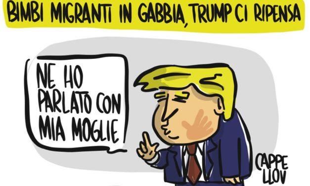 Trump, Melania e i bambini del Messico