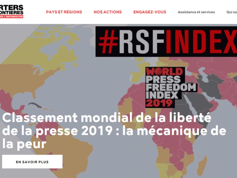 RSF: libertà di stampa sempre più minacciata
