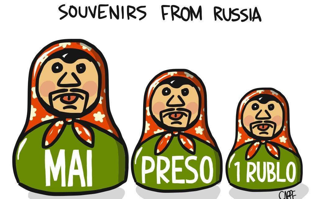 La Lega e la Russia: dalle felpe alle matrioske