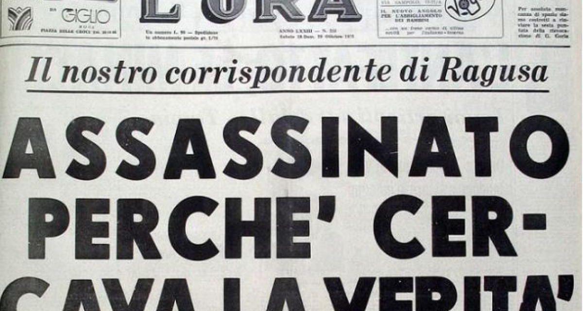 Palermo celebra L'Ora: una via dedicata a chi ha onorato il giornalismo