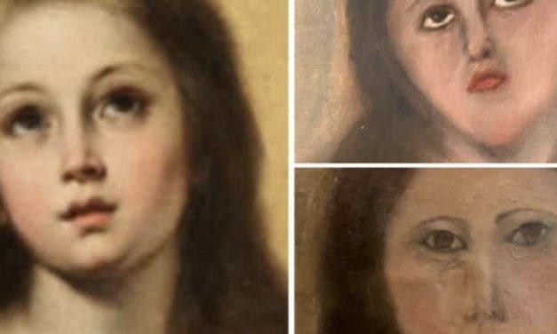 Una copia di Murillo trasformata in un dipinto naïf