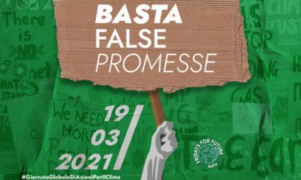"""Fridays For Future: """"Basta false promesse"""". Il 19 marzo giornata mondiale per il clima"""