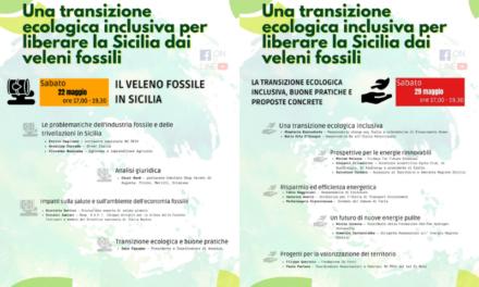 Domani e il 29 maggio due iniziative del Coordinamento No Triv Sicilia sulla Transizione Ecologica